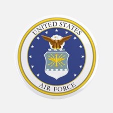 """USAF Coat of Arms 3.5"""" Button"""