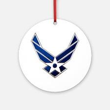 Usaf 3 Diamond Symbol Ornament (round)