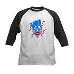 Patriotic Hat with Balloon Kids Baseball Jersey