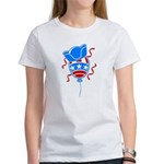 Patriotic Hat with Balloon Women's T-Shirt