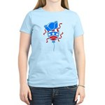 Patriotic Hat with Balloon Women's Light T-Shirt