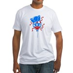 Patriotic Hat with Balloon Fitted T-Shirt