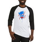 Patriotic Hat with Balloon Baseball Jersey