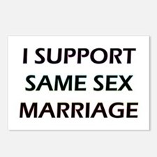 I Support Same Sex Marriage Postcards (Package of