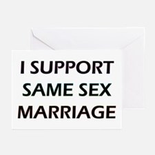 I Support Same Sex Marriage Greeting Cards (Packag