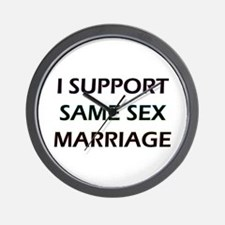 I Support Same Sex Marriage Wall Clock