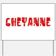 Cheyanne Faded (Red) Yard Sign