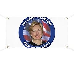 Hillary Clinton for President Banner