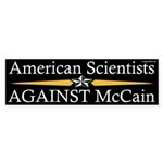 American Scientists Against McCain sticker