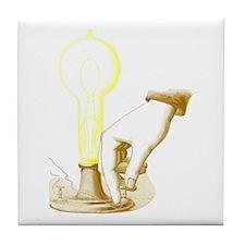 Edison Light Tile Coaster