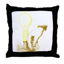Edison Light Throw Pillow