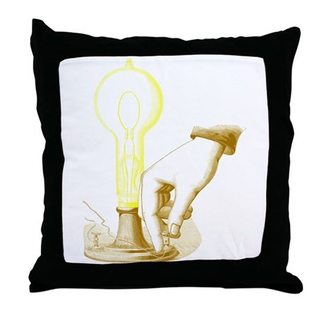 Edison Light Throw Pillow