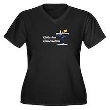 Earth Chalice Women's Plus Size V-Neck Dark T-Shir