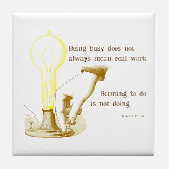 Edison Quote Tile Coaster