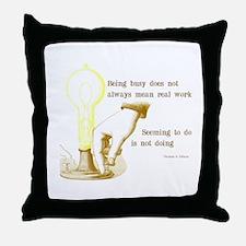 Edison Quote Throw Pillow
