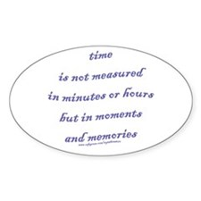 Moments and Memories Oval Decal