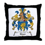 Kiner Family Crest Throw Pillow