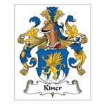 Kiner Family Crest Small Poster