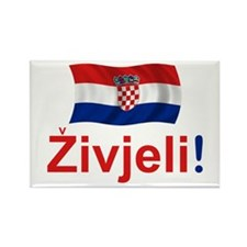 Croatian Zivjeli Rectangle Magnet