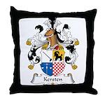 Kersten Family Crest Throw Pillow