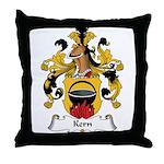 Kern Family Crest Throw Pillow