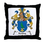 Kerling Family Crest Throw Pillow