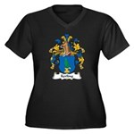 Kerling Family Crest Women's Plus Size V-Neck Dark