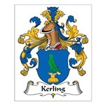Kerling Family Crest Small Poster