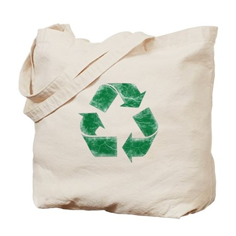 Recycle Symbol - Distressed Tote Bag