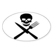 skullandknifefork Bumper Stickers