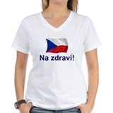 Czech Womens V-Neck T-shirts