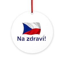 Czech Na zdravi! Ornament (Round)