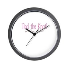 Tied the Knot Wall Clock