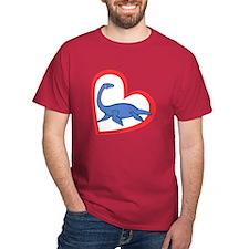 Heart Swimming Dino T-Shirt