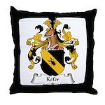 Kefer Family Crest Throw Pillow