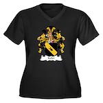 Kefer Family Crest Women's Plus Size V-Neck Dark T