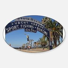 Santa Monica Pier Oval Decal