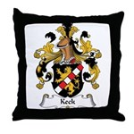 Keck Family Crest Throw Pillow