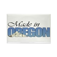 Made in Oregon (Mount Hood) Rectangle Magnet