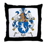 Katt Family Crest Throw Pillow