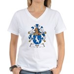 Katt Family Crest Women's V-Neck T-Shirt