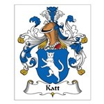 Katt Family Crest Small Poster