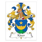 Kaser Family Crest Small Poster