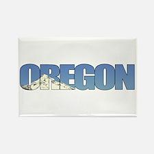 Oregon with Mt. Hood Rectangle Magnet (100 pack)