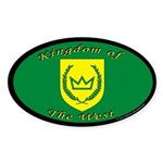 Kingdom of the West Oval Sticker