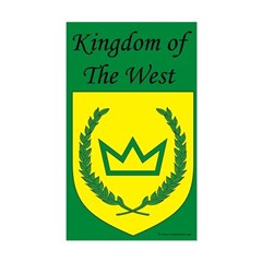 Kingdom of the West Rectangle Decal