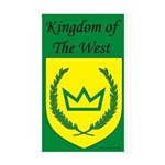 Kingdom of the West Rectangle Sticker