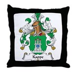 Kappe Family Crest Throw Pillow