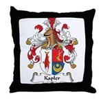 Kapler Family Crest Throw Pillow