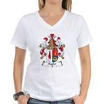 Kapler Family Crest Women's V-Neck T-Shirt